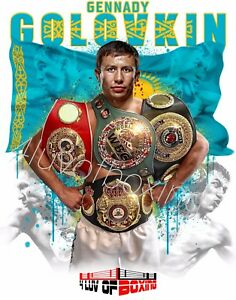 Gennady GGG Golovkin  Boxing Poster WH New 4LUVofBOXING Triple G 11x17