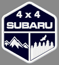 """SUBARU 4 x 4 EMBROIDERED PATCH ~3-1/2""""x 3"""" OFF ROAD RACING ASCENT OUTBACK SUV #2"""