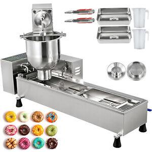 Kommerziell Donutmaker Donutmaschine 7L Vollautomatisch 3 Molds Innere Öltank