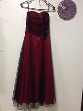 Ladies formal dress SCOTT MCCLINTOCK size 8 red black strapless party prom 71