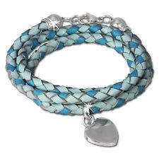 Unisex Modeschmuck-Armbänder aus Leder mit Türkis-Perlen
