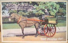 Vintage Postcard IRISH JAUNTING CAR Jarvey Eva Brennan Verse Valentine Carbo