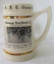 1975 Pittsburgh Steelers Afc Champions Post-Gazette Super Bowl Stein Mug Rare