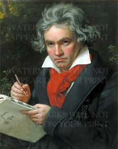 8x10 photo repro: Ludwig van Beethoven, classical music composer, art by Stieler