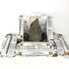 Wizarding World of Harry Potter Talking Sorting Hat plus 9 Mystery Wands Sealed