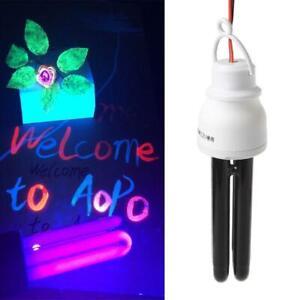 1 Set UV Light 12V 20W Black Light Bulb Spiral Energy Saving Purple Light Farm