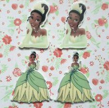 4 x Princess Tiana Flatback Planar Resin Embellishment Hair bow Craft UK