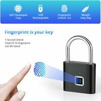 Fingerabdruck Smart Keyless USB Vorhängeschloss Türschloss Fingerprint Lock L9N0