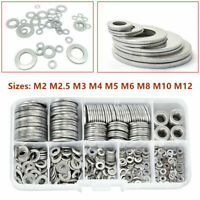 580pcs Stainless Steel Car Truck Flat Washers Kit M2 M2.5 M3 M4 M5 M6 M8 M10 M12
