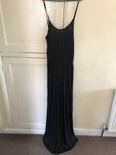 Vestido de Verano H&M Negro Luz Cortado Con Tiras Cami Largo Maxi Bn S 10-12