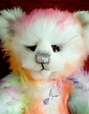 HANDMADE OOAK BEAR. RAINBOW.  BY BEARALICIOUS BEARS