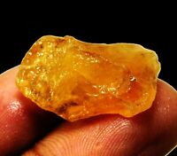 Natural 18 Ct Beautiful Loose Brazilian Yellow Citrine Rough Gemstone. 3310