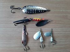 5 off used Blair spoon,Blue Fox,Lukki spinning lures