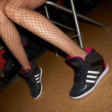 Adidas Sneaker Wedges sportlich 41,5 Lack Pink mit Punkten Keilabsatz Fashion