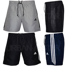 Adidas Essential 3 Stripe Chelsea Shorts Mens Original Climalite Gym Shorts