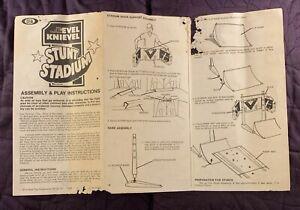 IDEAL  EVEL KNIEVEL  STUNT STADIUM  INSTRUCTION SHEET  1974  ORIGINAL