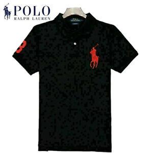 Classic Men's Ralph Lauren Casual Polo Shirt Short Sleeve 100% Cotton T-Shirts
