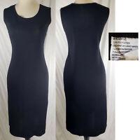 Exclusively MISOOK Classic Black Sleeveless Sheath knit Dress, M