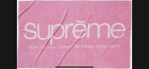 Supreme Five Boroughs Towel Pink -In Hand - Fastest Shipping!
