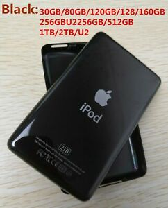 Metal Back Rear Housing Case Cover panel for iPod classic video (black)