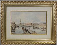 8360096 Aquarell Belebter Hafen Nordeuropa Skandinavien Seefahrt