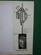 6/1955 PUB OLIVETTI  IVREA ITALIA MODELE LETTERA 22 TYPEWRITER FRENCH AD
