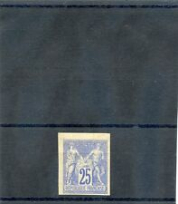 FRENCH  COLONIES  Sc 35a(YT 35)*VF OG TO LH  25c BLUE  TYPE II  $8000