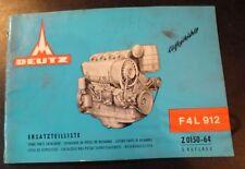 Deutz Motoren F4L 912 Ersatzteil-Katalog