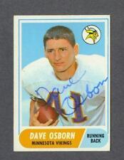 Dave Osborn signed Minnesota Vikings 1968 Topps football card