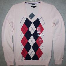 New Tommy Hilfiger  Women's Pima Cotton V-neck Sweater S M L XL 2XL  NWT