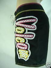 New Junior Womens 3 VOLCOM Miss Mod Board Shorts Black Pink