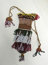 Vintage Native American Beaded Bag Fringe Drawstring Completely Handmade