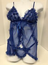 Sheer Baby-Doll Teddie. lingerie. Size Small