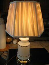 Vtg Table Starburst Lamp~Milk Glass Night Light Bottom~Top Light~Shade