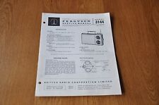 Ferguson 3144  Transistor portable radio Vintage Service Manual