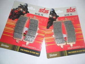 Set 4 Plaquettes Frittées Avant SBS pour Ducati Monster 1100 S 1198 R/S