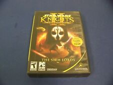 Star Wars Knights of the Old Republic II The Sith Lords 4 Disc Set for PC & Manu