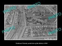 OLD LARGE HISTORIC PHOTO NORTHCOTE VICTORIA AERIAL VIEW OF THE DISTRICT c1930