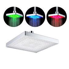 Soffione Doccia Quadrato Bagno Cascata A LED 3 Colori a Sottile Effetto Pioggia