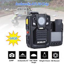 64GB HD 1296P policía IR bolsillo cuerpo cámara cámara Mini DVR 140 °+batería AA