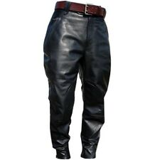 DISCOUNTED 44 SIZE MENS JODHPURS MODEL REAL GENUINE LEATHER BLACK CASUAL PANT