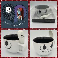 Disney Nightmare Before Christmas 24-Oz. Soup Mug Bowl w/ Spoon Big Coffee Cup