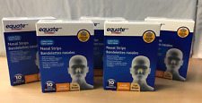 Five (5) pack NEW Equate Strength Nasal Strips 10 Count compare to Breath Right
