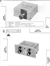 Lot 2 Service Photofact w-Schematic: FANON 3510 Amp & FISHER TR-1 Pre-amplifier