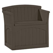 Suncast 31 Gallon Patio Seat Outdoor Storage and Bench Chair, Java   PB2600J