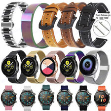 For Samsung Galaxy Watch 42/46mm S3 S2 Huawei Milanese Leather Band Wrist Strap