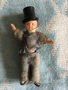 Vintage Dollhouse Man With Top Hat