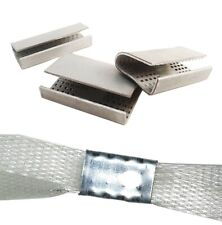 16mm Metal Carton Strapping Machine Seals For Plastic Strap Sealers Buckles Clip