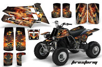 Yamaha banshee quad stickers graphics decal 10pc Special Edition Black//White ATV