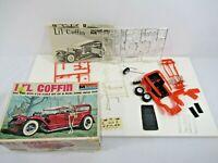 Monogram Li'l Coffin Kit Mattel VTG 1970 in Box 1/24 Scale Made in USA Red Car